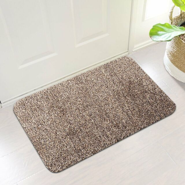 Indoor Super Absorbs Mud Doormat Latex Backing Non Slip Door Mat For Front  Door