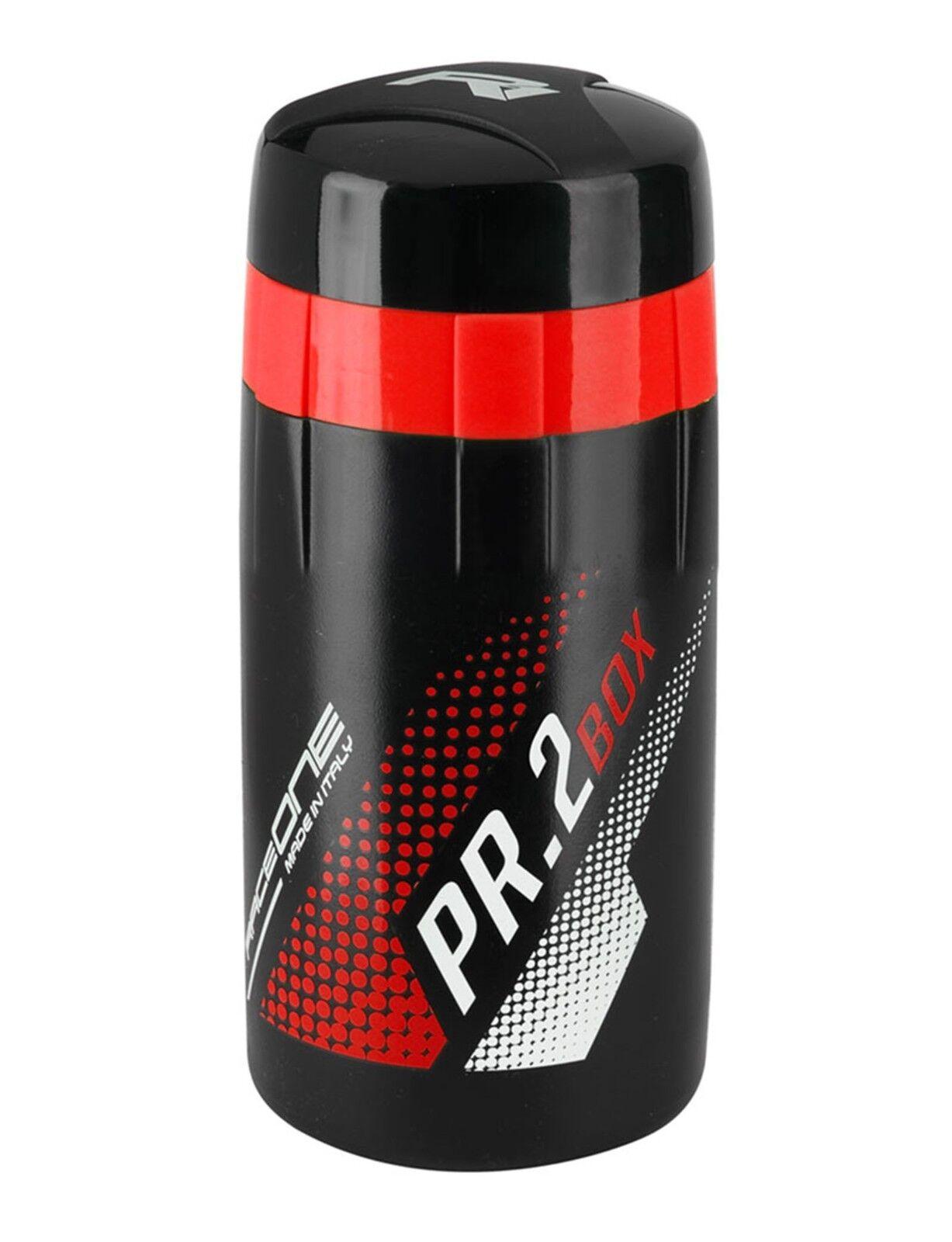 Bidon RACEONE PR2 BOX TOOLBOX para Herramientas de Bicicleta Negro Rojo 6297rj