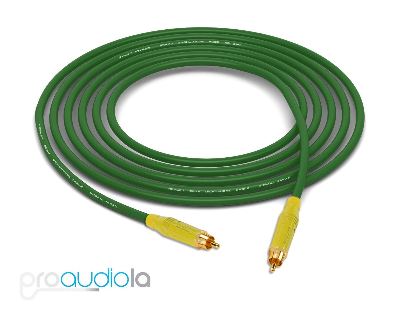 Mogami 2534 Quad Cable   Gelb Amphenol RCA to RCA   Grün 35 Feet 35 Ft. 35'
