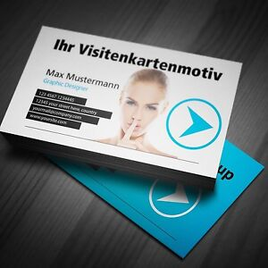 Details Zu Visitenkarten Auf Hochwertigen Papieren Business Druck Beidseitig In Farbe