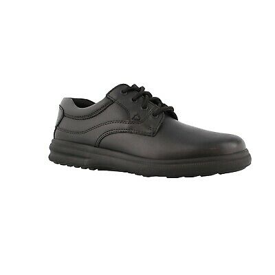 hush puppies glen mens black leather h19072 lace up casual