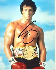 Sylvester-Stallone-Autograph-ROCKY-Signed-10x8-Photo-AFTAL-B3620