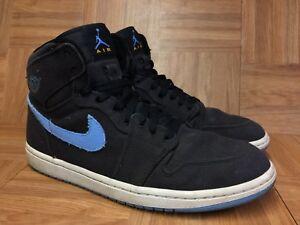 Vtg Nike Air Jordan 1 High Strap University Blue Black Melo Sz