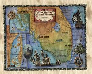 SOUTH AMERICA  MAP POSTER PRINT ANTIQUE OLD art vintage for 900mm Glass Frame