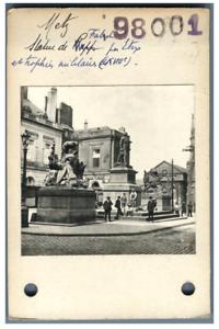 France-Metz-Place-d-039-Armes-Statue-du-marechal-Fabert-Vintage-silver-prin
