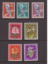 Netherlands New Guinea 1959 Birds Flowers 2 sets MNH mint  SG60-66