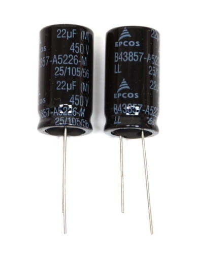 20pc Electrolytic Capacitor 22uF 450V 105℃ φ16x31mm Radial EPCOS