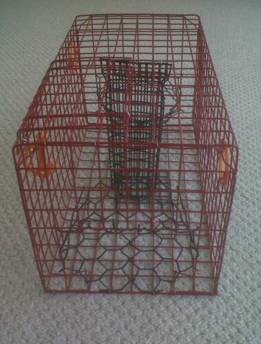 PVC RED Commercial Grade Crab Pot Trap With 50 Foot Line /& GREEN 5x11 Float