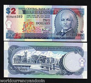 Barbados Banknote 2 Dollars 2007 UNC