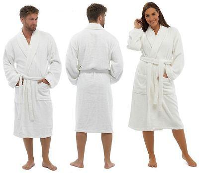 Unisex Top Qualität 100% Cotton Weich Weiß Trocknend Robe,bademantel Nachtwäsche Sleepwear & Robes