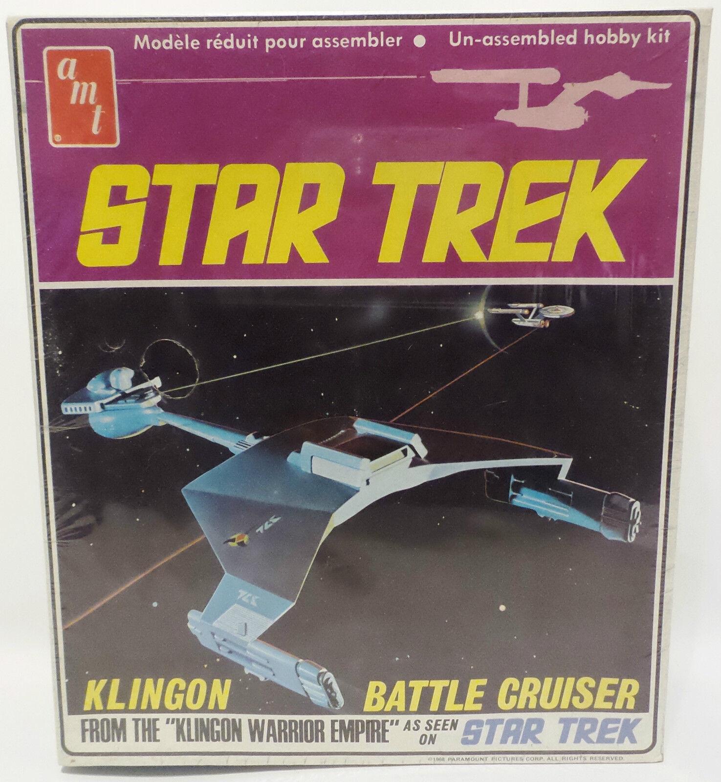 STAR TREK THE ORIGINAL SERIES   KLINGON BATTLE CRUISER AMT MODEL KIT (MLFP)