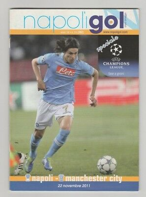 Aggressiv Orig.prg Champions League 2011/12 Ssc Neapel - Manchester City !! Selten