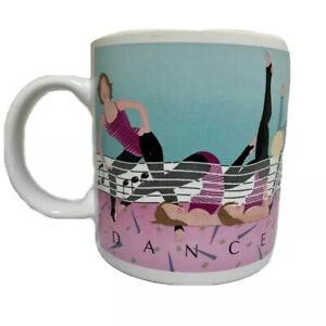 1982-Aerobics-Dance-Coffee-Mug-Cup-Kitchen-Accessories-Drinking-Vintage-VTG