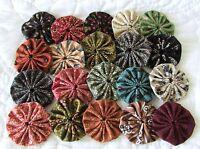 100 1 1/2 Inch Fabric Yo Yo In Shades Of Civil War, Museum Reproduction Fabrics