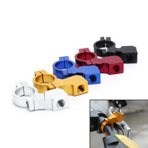1X 10MM Motorcycle Bike Handlebar Rear View Mirror Mount Holder Clamp SellinY`US