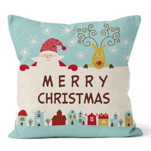 """Joyeux Noël taie d/'oreiller lit canapé taille Housse de coussin Voiture Décoration Maison 18X18/"""""""