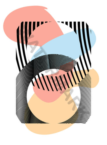 Abstract Minimalist Shape Design Geometric Large Poster Print 18 x24 /'/' LF3922
