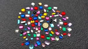 75 X Mixte à Facettes Acrylique Coudre Sur, Stick Strass Crystal Strass Gemmes-afficher Le Titre D'origine 19qcmi9s-10130852-341080589