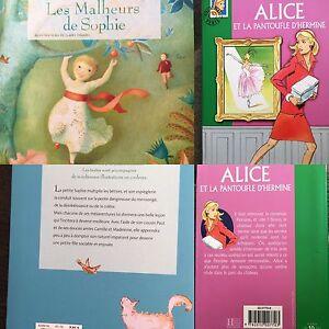 LOT-2-Livres-Les-Malheurs-de-Sophie-Alice-et-la-pantoufle-d-039-hermine