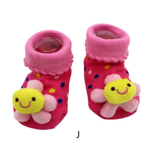 Baby Girl Boy Anti-slip Socks Cartoon Newborn Slipper Shoes Boots 0-12 Months