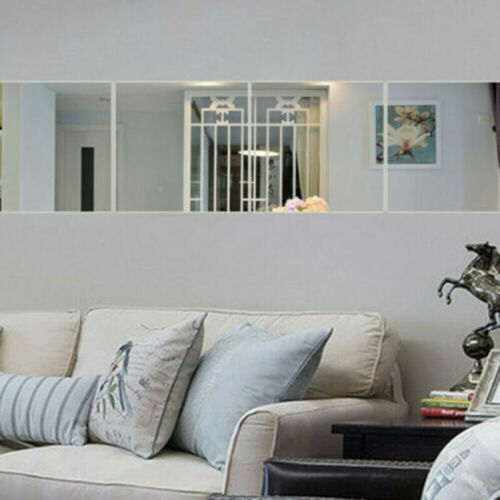 Spiegelfliesen 6 Stück Spiegelkachel 30x30cm Spiegel Wandaufkleber Spritzschutz