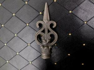 Cast Iron Finial Fleur de Lis Fence Topper Bottle Top Craft Supply New
