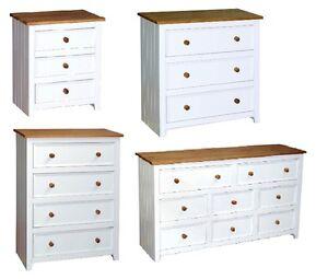 Image Is Loading Capri Bedroom Furniture White Pine Drawer Chest Series
