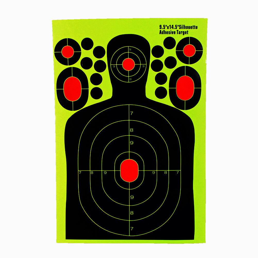 Adhesivo 50Pcs 9.5 x14.5  objetivo salpicadura de papel de rango de tiro