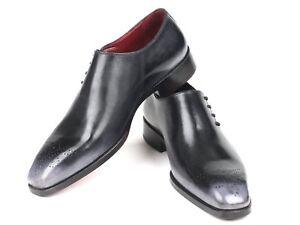 Paul-Parkman-Side-Lace-Derbies-Gris-Lustre-Handmade-Chaussures