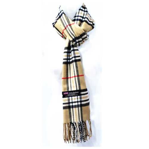 Women Men Winter Warm 100/% Cashmere Wool Wrap Scarf Scotland Made Plaid Scarves