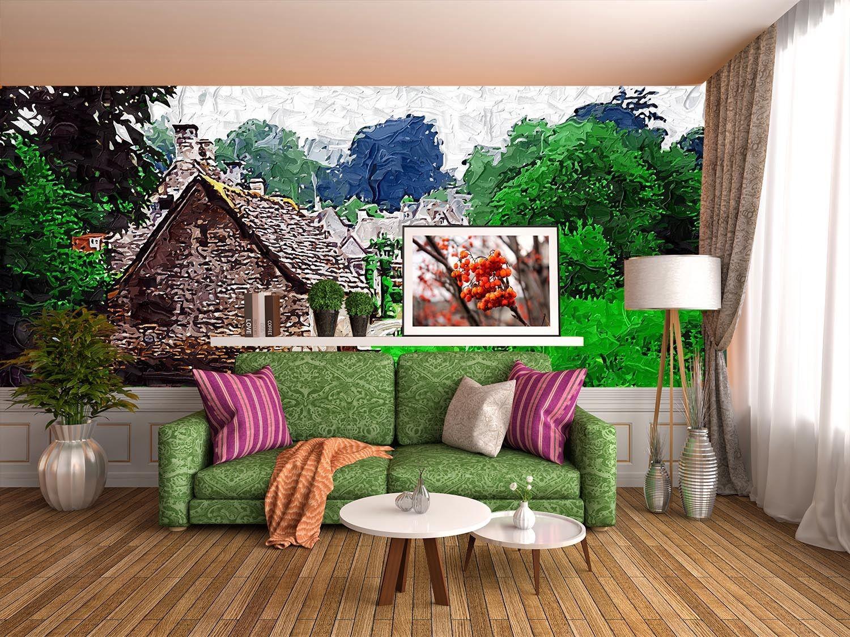 3D Rural View 401 Wallpaper Murals Wall Print Wallpaper Mural AJ WALL UK Lemon