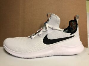 5b48ffaa20db Nike Free TR 8 Print AH0709-100 White Black Training Shoes SZ 11 ...