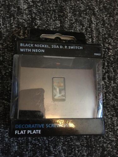 BG Nexus BLACK NICKLE  Screwless Flat plate switches