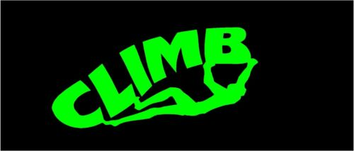 Climb Sticker Rock Climb decal in the color Iguana Green lime