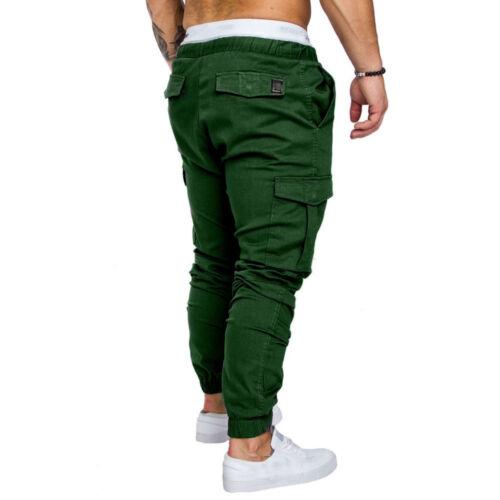 New Men/'s Slim Fit Urban Straight Leg Trousers Casual Pencil Jogger Cargo Pants