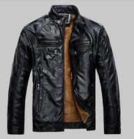 Men's Genuine Lambskin Leather Jacket Black Slim fit Biker Motorcycle.jacket/