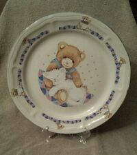 Tienshan Friends Forever Theodore Bear and kitten dinner plate