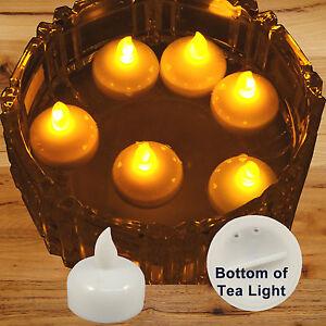 new 36 amber led floating floral tea light candle for wedding centerpiece decor ebay. Black Bedroom Furniture Sets. Home Design Ideas