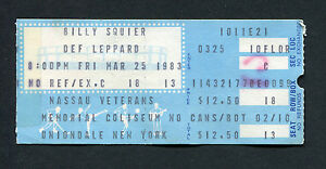 1983-Def-Leppard-Billy-Squier-concert-ticket-stub-Pyromania-Tour-Rock-of-Ages
