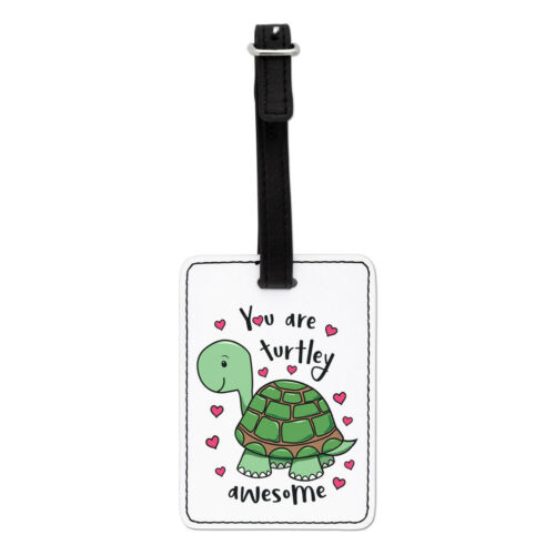 Turtle Valentine/'s Day You Are Turtley Awesome Visual Luggage Tag Suitcase Bag