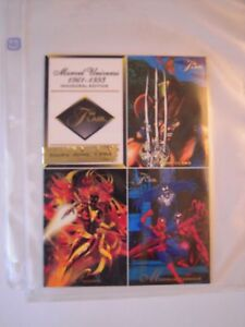 MARVEL-FLAIR-94-UNCUTSHEET-DE-4-CARDS-TRES-BON-ETAT