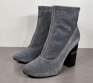 7966fb87ab Marc Fisher LTD Padda Stretchy Boot, Pewter Fabric, Womens Size 7.5 ...