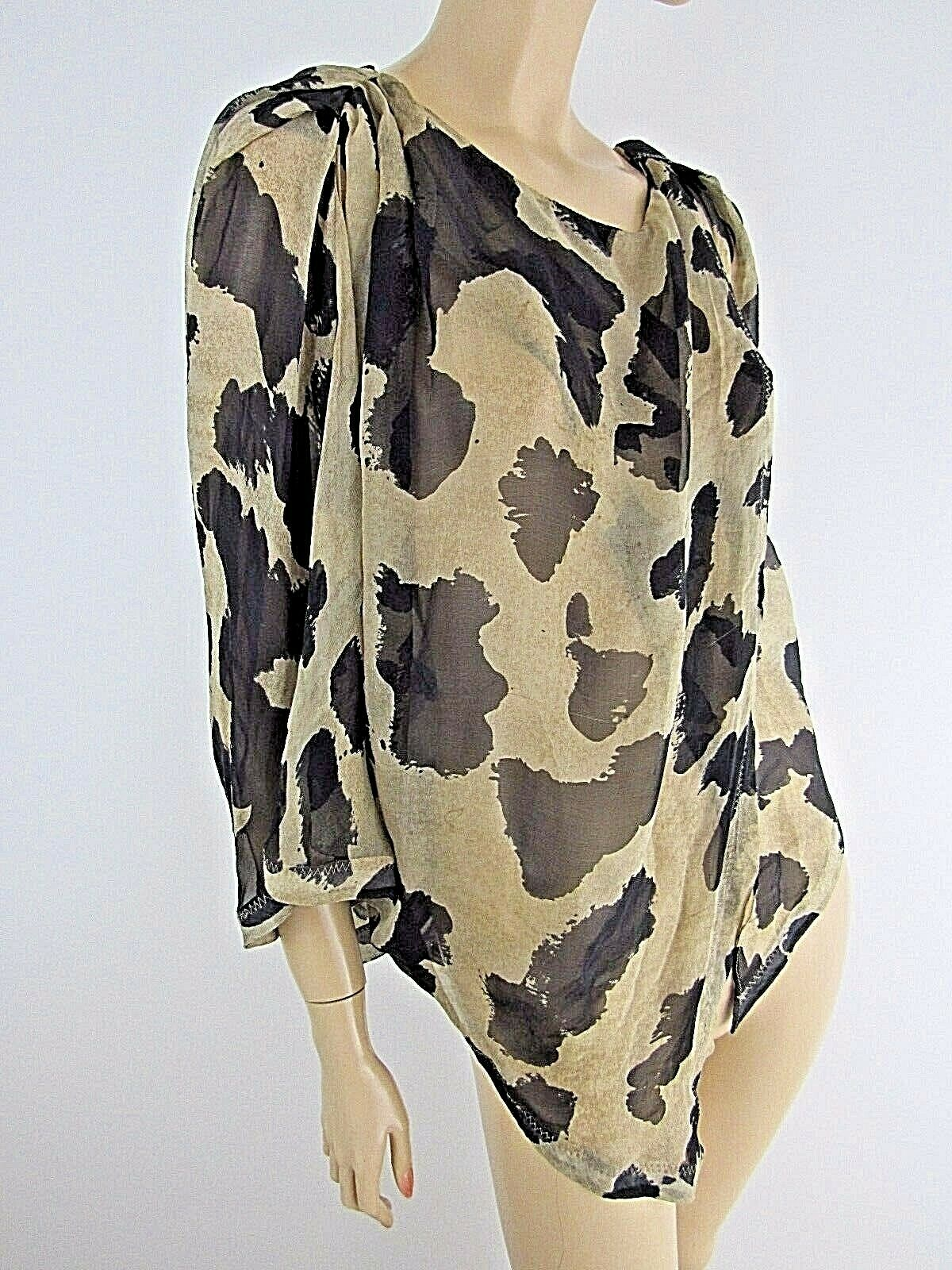 SEE BY CHLOE OVER-GrößeD LAYErot ASYMMETRICAL 100% SILK SHIRT-BLOUSE Größe 6