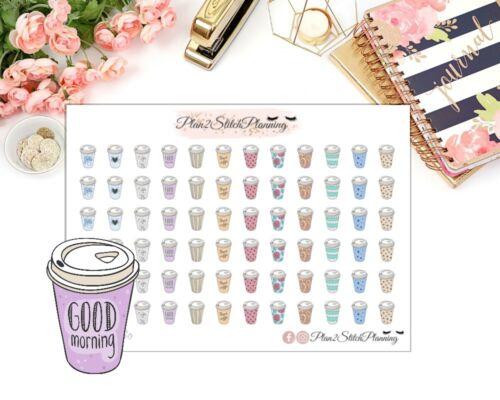 Coffee To Go Planner Stickers//Erin Condren// Happy Planner//Life Planner