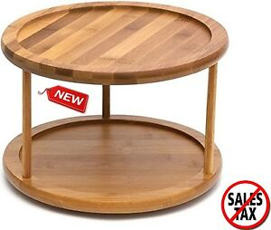 Turn Table Kitchen Turn table kitchen choice image table decoration ideas lazy susan bamboo turntable kitchen organizer rack spice storage 10 image is loading lazy susan bamboo workwithnaturefo