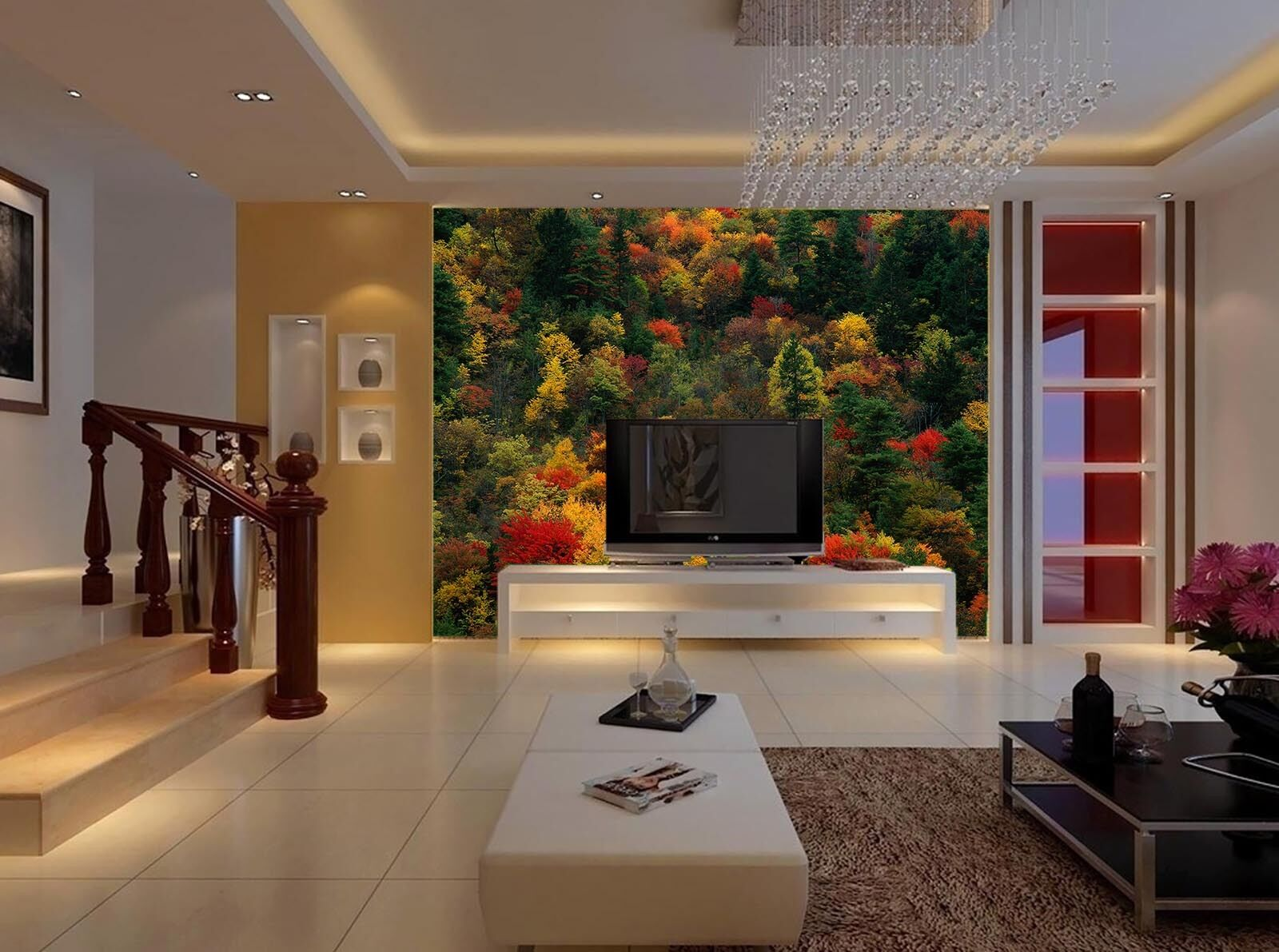 3D Mountain colorful Forest 31 Wall Paper Wall Print Decal Wall AJ Wall Paper