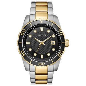Bulova-Men-039-s-Quartz-Date-Calendar-Luminous-Hands-Black-Dial-42-mm-Watch-98A199