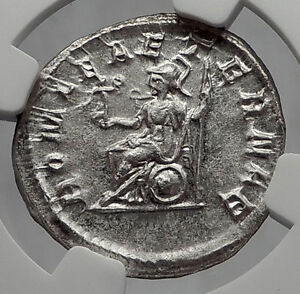 PHILIP-I-the-ARAB-247AD-ETERNAL-Rome-TEMPLE-Ancient-Silver-Roman-Coin-NGC-i63183