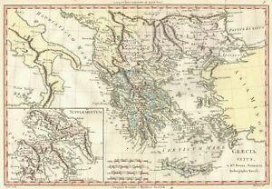 Cartina Geografica Dell Isola Di Creta.Carta Geografica Antica 1700 Grecia Creta Peloponneso Ebay