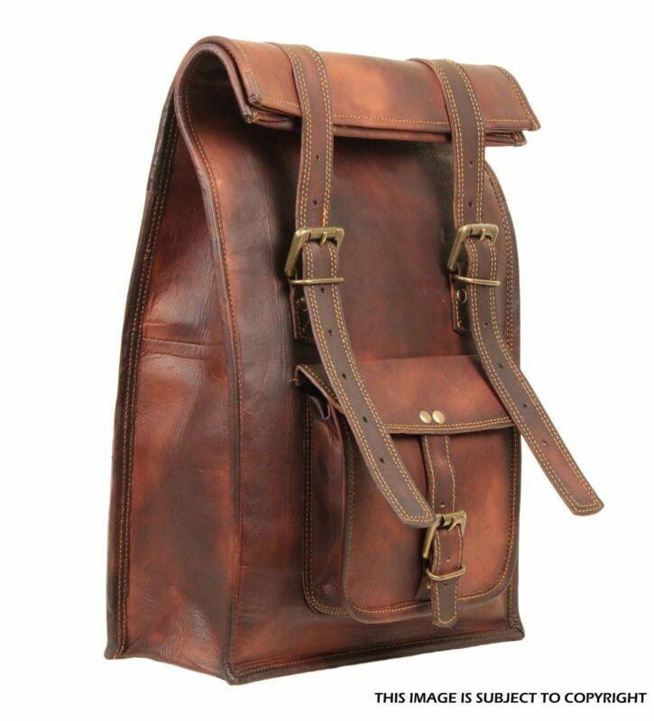 Inventive Men's Large Leather Rucksack Backpack Shoulder Laptop Handmade New Backpack Wide Selection;